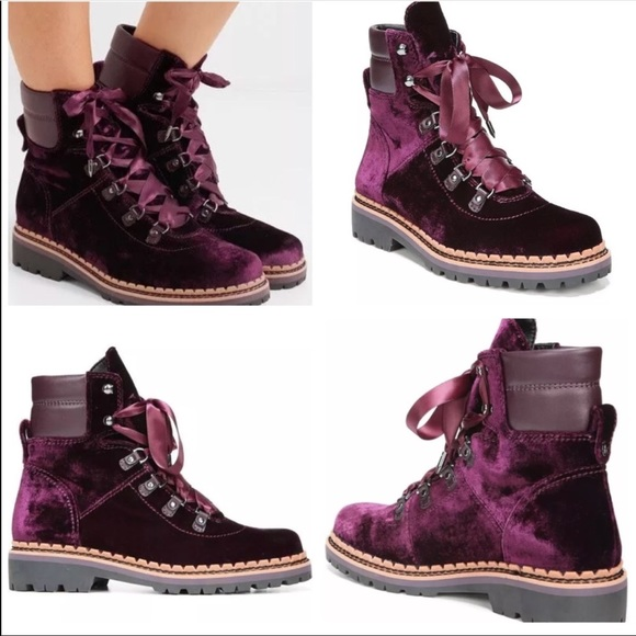 eece156e92bfac Sam Edelman Browan Velvet Lace-Up Boots
